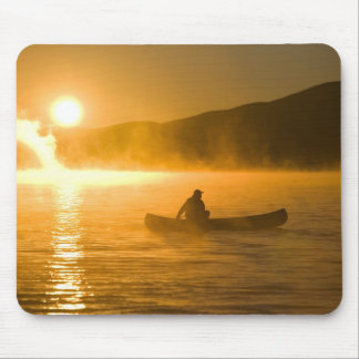 Canoeing in Lily Bay at sunrise, Moosehead Lake, Mouse Pad