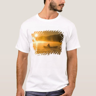 Canoeing in Lily Bay at sunrise, Moosehead Lake, T-Shirt
