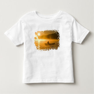Canoeing in Lily Bay at sunrise, Moosehead Lake, Toddler T-shirt
