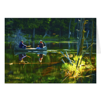 Canoeing in the Adirondacks Travel Photography Card