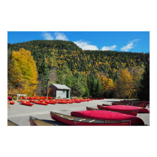 Canoeing Kayaking Jacques Cartier Park Poster