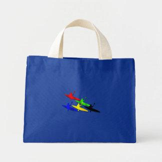 Canoeing Kyaking Canoe kyak water sports Mini Tote Bag