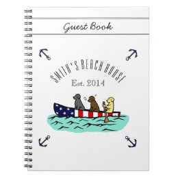 Canoeing Labrador Beach House Guest Book