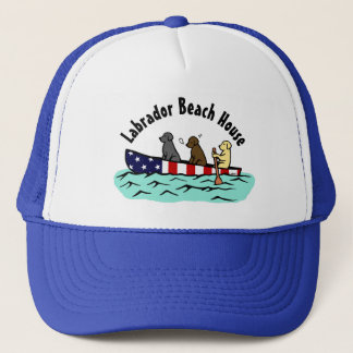 Canoeing Labrador Beach House Hat