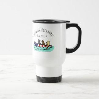 Canoeing Labrador Beach House Travel Mug