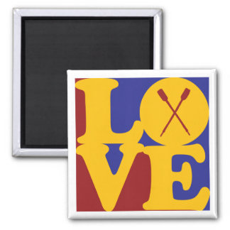 Canoeing Love 2 Inch Square Magnet