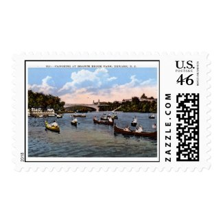 Canoeing, Newark, New Jersey Vintage Stamps