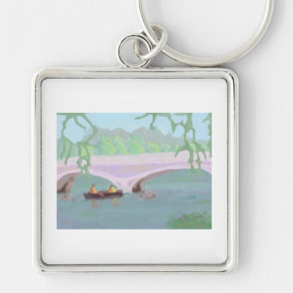 Canoeing Peaceful Solitude, Keychain