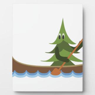 Canoeing Pine Tree Plaque