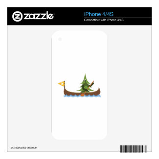 Canoeing Pine Tree Skins For iPhone 4S