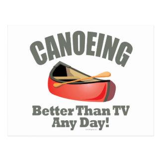 Canoeing Postcard