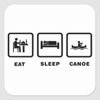 Canoeing Square Sticker