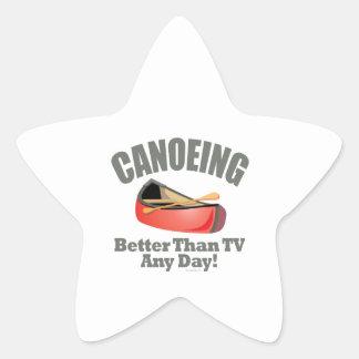 Canoeing Star Sticker