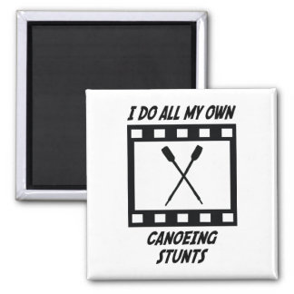 Canoeing Stunts 2 Inch Square Magnet