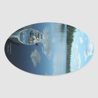 Canoeing the Boundary Waters v.1 Oval Sticker