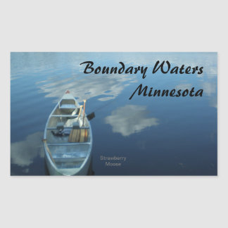 Canoeing the Boundary Waters v.1 Rectangular Sticker