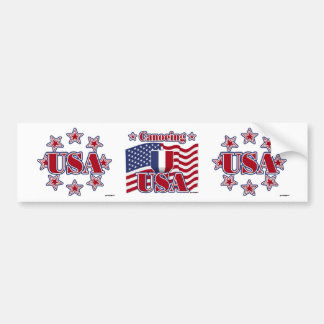 Canoeing USA Bumper Sticker
