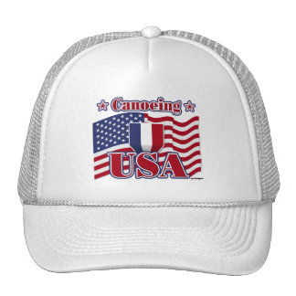 Canoeing USA Trucker Hats