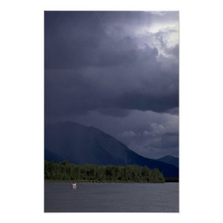 Canoeist on the Nahanni River, NWT, Canada Posters