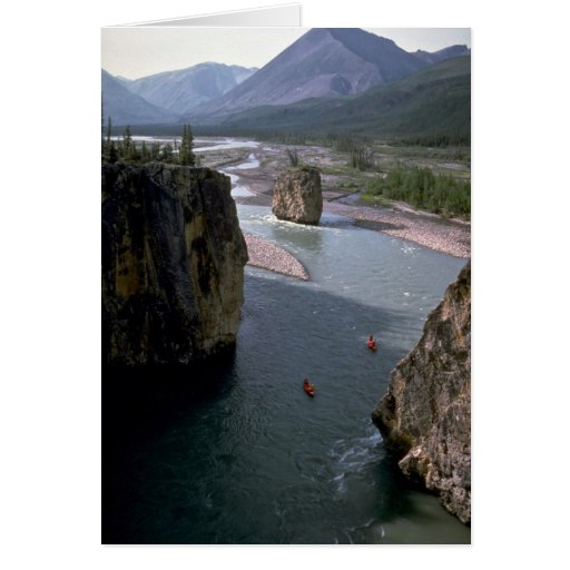 Canoeists, Mountain River, Northwest Territories, Card