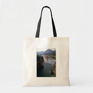 Canoeists, río de la montaña, territorios del noro bolsa tela barata