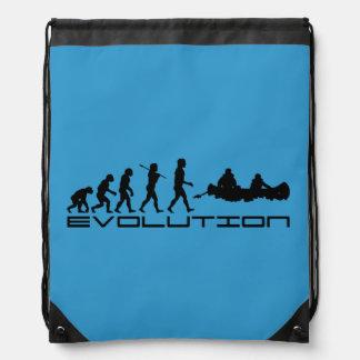 Canoer Canoers Kayak Sports Blue Drawstring Bag