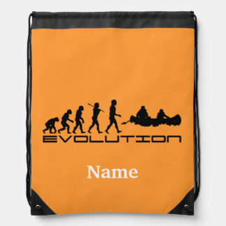 Canoer Canoers Kayak Sports Personalized Drawstring Bag