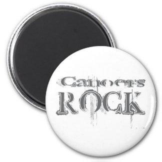 Canoers Rock 2 Inch Round Magnet