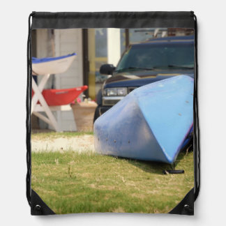 Canoes and Kayaks by Shirley Taylor Drawstring Backpack