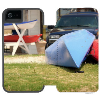 Canoes And Kayaks by Shirley Taylor iPhone SE/5/5s Wallet Case