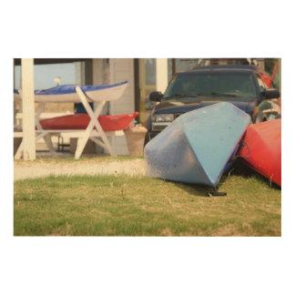 Canoes And Kayaks Wood Prints