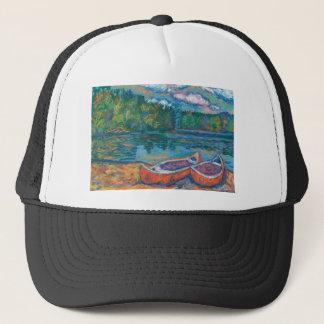 Canoes at Mountain Lake Trucker Hat