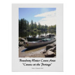 Canoes at the Portage-BWCA Poster