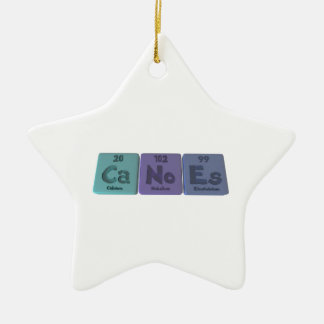 Canoes-Ca-No-Es-Calcium-Nobelium-Einsteinium.png Ceramic Ornament
