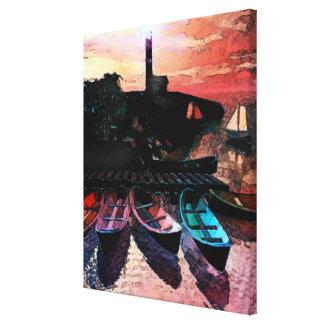 Canoes Canvas Print