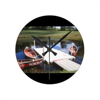 Canoes Clock
