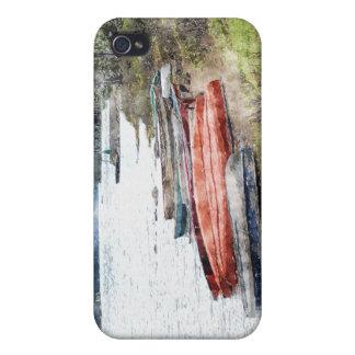 Canoes, Kayaks & Boats Watercolour Art iPhone Case