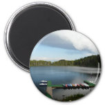 canoes on a lake magnet