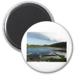canoes on a lake refrigerator magnet