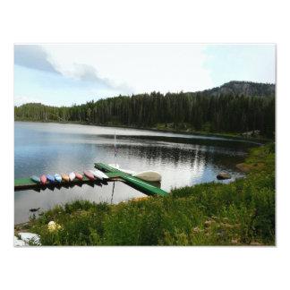 canoes on lake 2 card