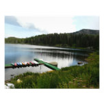 canoes on lake 2 personalized invitation