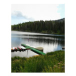 canoes on lake 2 personalized letterhead
