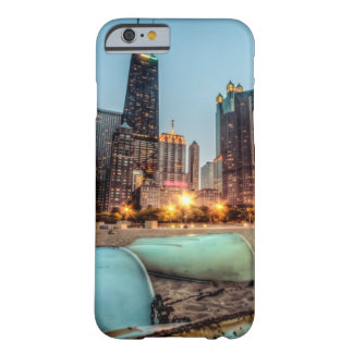 Canoes on Oak Street Beach a little after sunset Barely There iPhone 6 Case