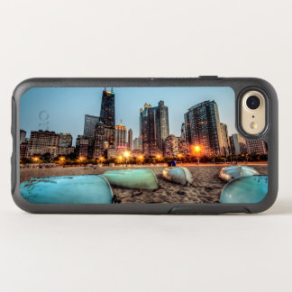 Canoes on Oak Street Beach a little after sunset OtterBox Symmetry iPhone 7 Case