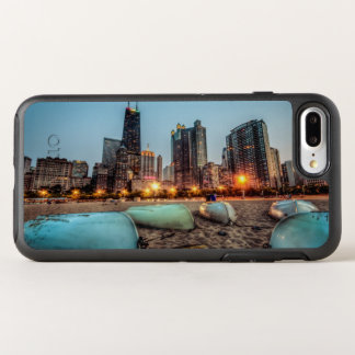 Canoes on Oak Street Beach a little after sunset OtterBox Symmetry iPhone 7 Plus Case