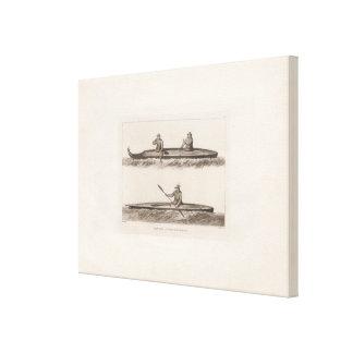Canoes, Oonalashka, Alaska Canvas Print