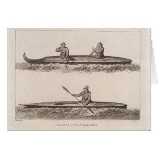 Canoes, Oonalashka, Alaska Card
