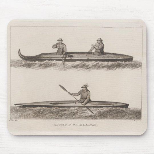 Canoes, Oonalashka, Alaska Mouse Pad