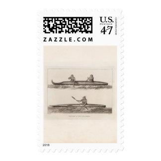 Canoes, Oonalashka, Alaska Postage Stamp