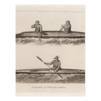 Canoes, Oonalashka, Alaska Postcard